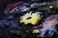 Взрыв сверхновой (И. Хохлов, смешанная техника)