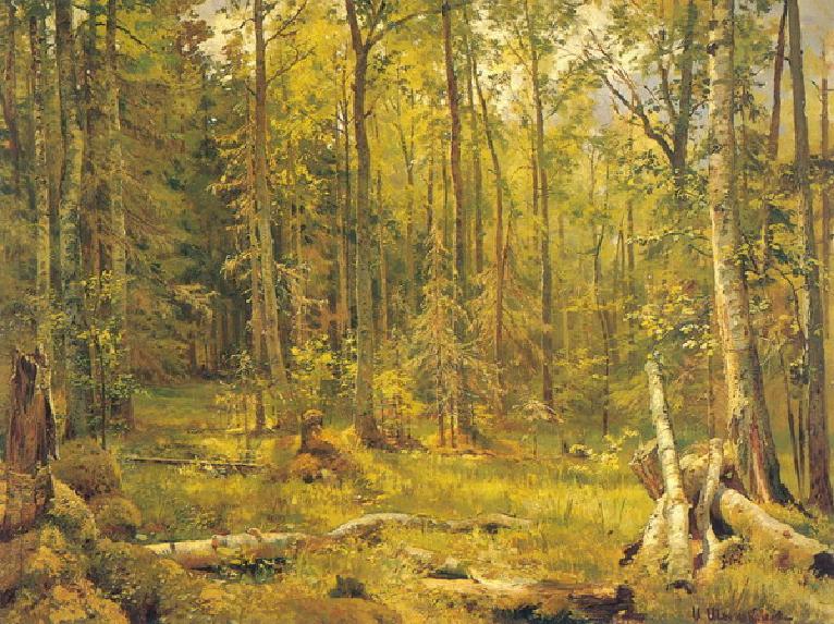 """1888 Шишкин И.И. """"Смешанный лес."""""""