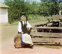 Крестьянская девушка (Прокудин-Горский, Малороссия)