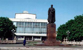 Памятник Коста Хетагурову, кинотеатр Ирон