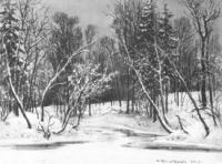 Лес зимой. 1884