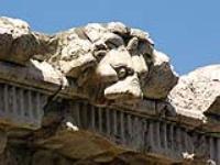 Скульптура карниза римского храма.