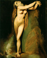 Анжелика у скалы (Жорж Сёра, 1878 г.)
