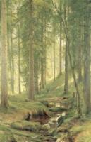 Ручей в лесу (На косогоре).1880