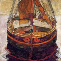 Рыбацкая лодка в Триесте (Э. Шиле, 1912 г.)