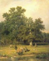 За грибами. 1870