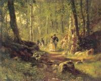 Прогулка в лесу. 1869