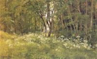Цветы на опушке леса. 1893. Этюд для картины (Лес на берегу моря).