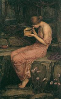 Психея и Золотой ларец (Д. Уотерхаус)