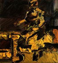 Сидящая в мастерской (Франк Ауэрбах)