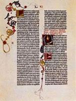 Страница Гутенберговcкой Библии