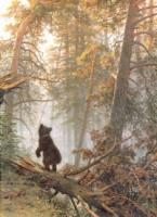 Утро в сосновом лесу. Фрагмент. 1889.