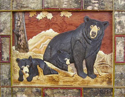Три медведя (интарсия)