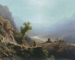 В горах Кавказа (Л.Ф. Лагорио, 1879 г.)