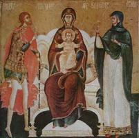 Богоматерь Печерская (Н. Савин, XVII в.)