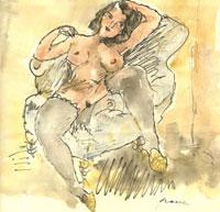 Обнаженная в кресле (Жюль Паскин)
