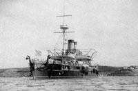 Броненосный корабль Чесма в Северной бухте Севастополя