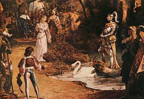 Сцена из оперы Р. Вагнера Лоэнгрин