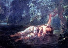 Делакруа «Смерть Офелии»