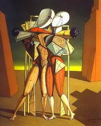 Гектор и Андромаха (Дж. де Кирико, 1917 г.)