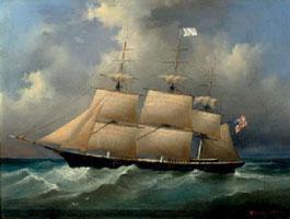 Американский корабль в море (Филипп Таннер)