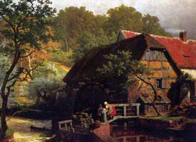 Вестфальская водяная мельница (Ахенбах)