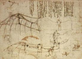 Крыло для летательного аппарата (Леонардо да Винчи)