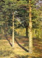 Сосны, освещенные солнцем. Этюд. 1886.