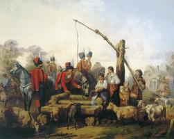 Лейб-гусары у водопоя (М.О. Микешин, 1853 г.)
