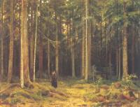 В лесу графини Мордвиновой. Петергоф. 1891.