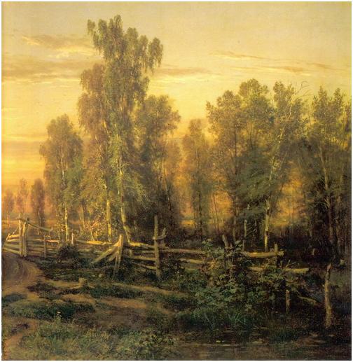 1871.Шишкин И.И. Вечер. Правый фрагмент.