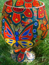 Роспись бокала акриловыми красками