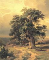 Дубы.1864.Этюд для картины 1865 г.Вид в окрестностях Дюссельдорфа