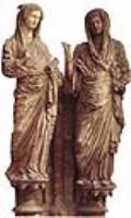 Фрагмент скульптурной группы Встреча Марии и Елизаветы Реймский собор. Западный фасад, ок. 1225-1299 г.