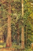 Еловый лес. Этюд. 1889-1890.