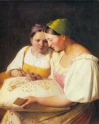 Гадание на картах (А.Г. Венецианов)