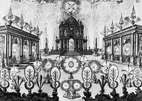 Фейерверк (гравюра по меди, Россия, 18 век)