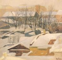 Городские крыши зимой. 1880-1890-е