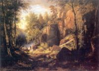 Вид на острове Валааме.Местность Кукко.1860