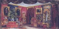 Эскиз декорации к спектаклю На всякого мудреца довольно простоты (1954-1956 г.)