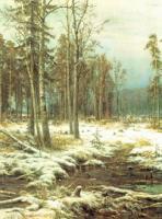 Первый снег.Левый фрагмент.1875