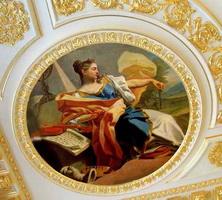 Роспись потолка с использованием мордана