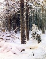 Зима. Правый фрагмент.