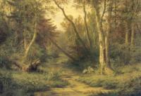 Лесной пейзаж с цаплями. 1870