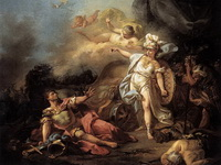 Битва Марса и Венеры (Жак Луи Давид, 1771 г.)