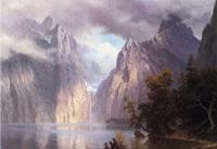 Сьерра Невада (Альберт Бирштадт, школа реки Гудзон. 1861 г.)