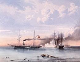 Сражение парахода Владимир с турецко-египетским параходом
