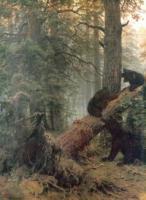Утро в сосновом лесу. 1889.