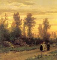 Вечер. Левый фрагмент. 1871