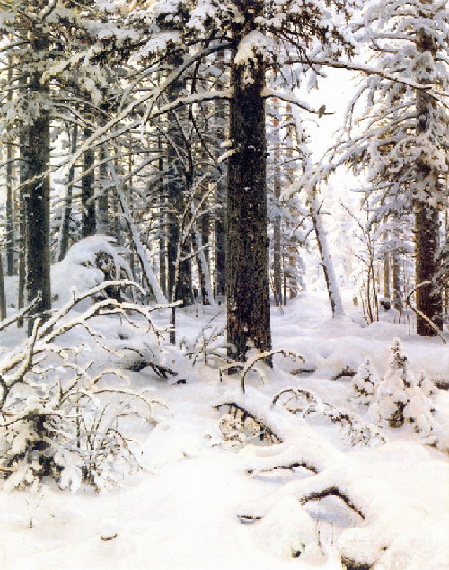 Зима. Левый фрагмент.
